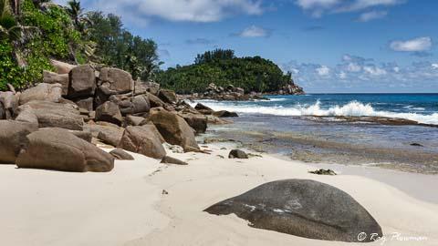 Anse Bazarca beach on the south of Mahe Island, Seychelles