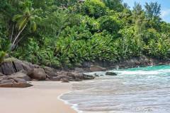 Anse Intendance beach on the south coast of Mahé Island in Seychelles