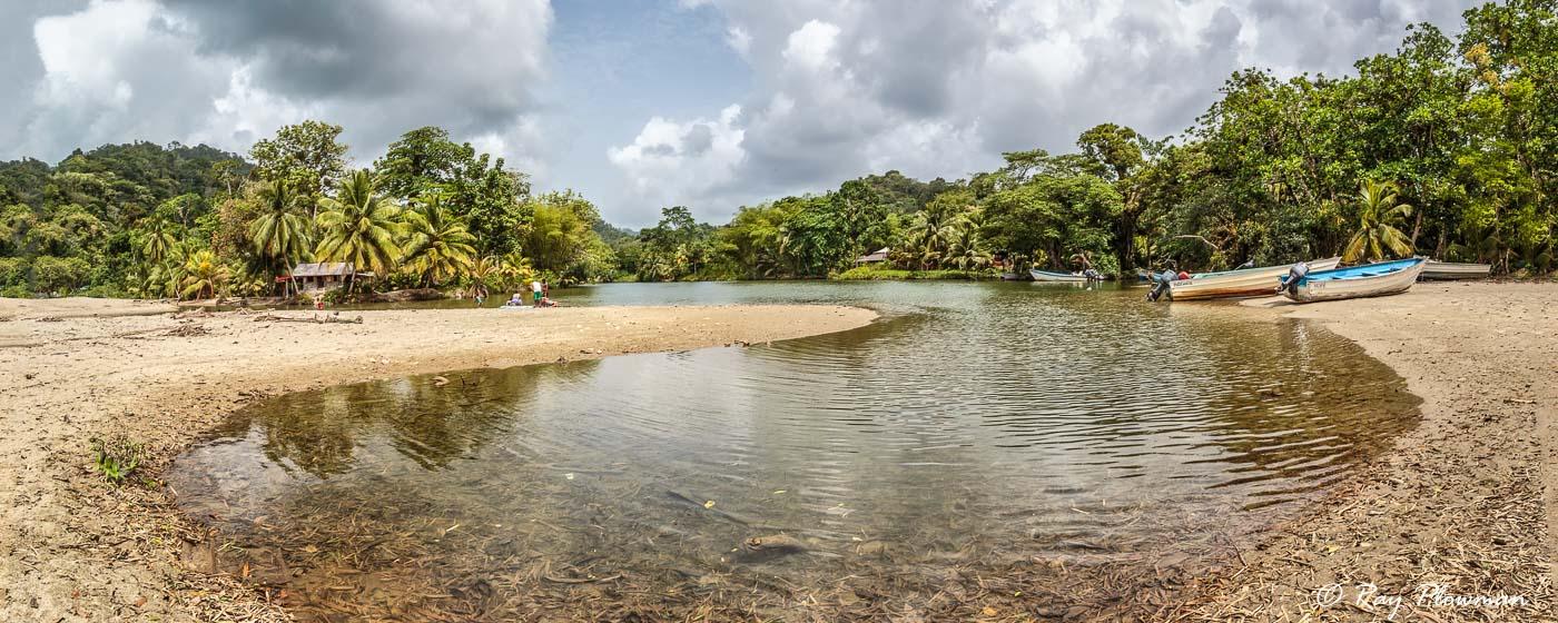 River at Grande Riviere village on Trinidad's North East Coast