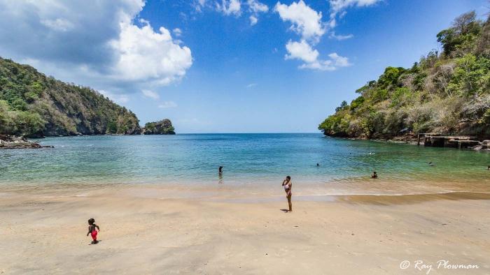 Macqueripe Bay Beach at Chaguaramas Peninsula in Trinidad